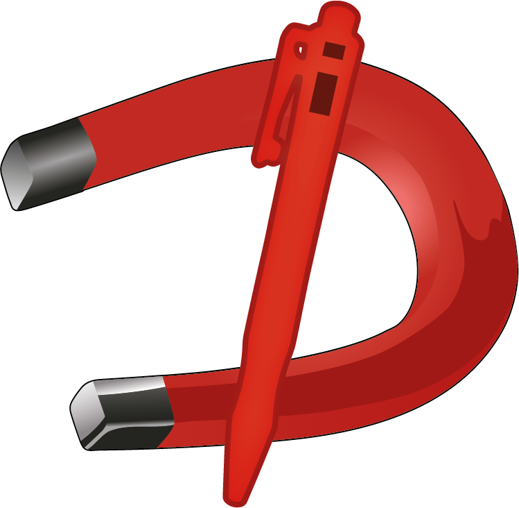 Detectable Plastic Clipboard - A5 landscape, blue with HD stainless steel clip