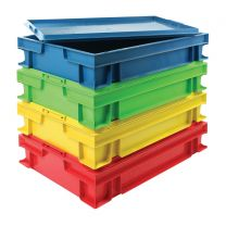 Detectable Stackable Storage Tray with Lid