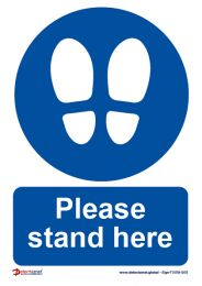 'Please Stand Here' Sign